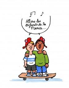 dessin Françoise enfants skate