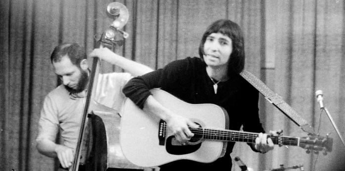 Pierre au centre américain à Paris avec Hervé de Sainte foy à la Contrebasse en 1974 !