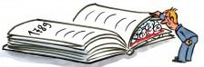 Bonhomme lève page livre histoire 1789 découvre crânes -2014- cul de lampe