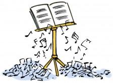 Notes qui tombent de la partition-cul de lampe 2014
