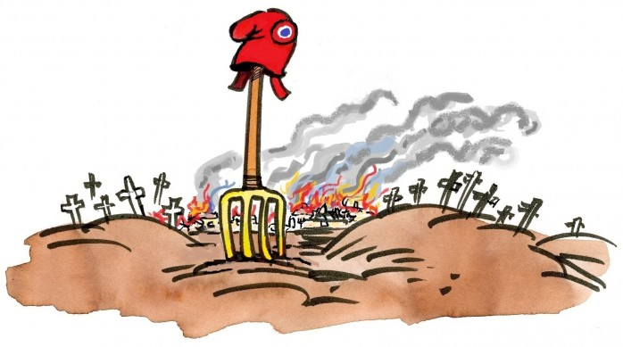 Village en feu 2014- cul de lampe -